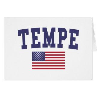 Bandera de Tempe los E.E.U.U. Tarjeta De Felicitación