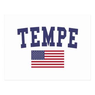 Bandera de Tempe los E.E.U.U. Tarjeta Postal