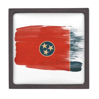Bandera de Tennessee Caja De Recuerdo De Calidad