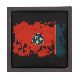 Bandera de Tennessee Cajas De Recuerdo De Calidad