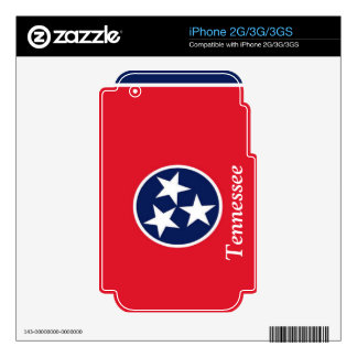 Bandera de Tennessee iPhone 3GS Skins