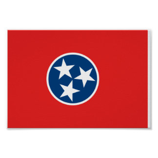 Bandera de Tennessee Posters