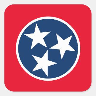 Bandera de Tennessee Pegatina Cuadrada