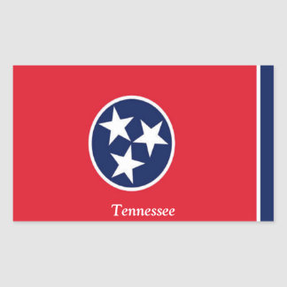 Bandera de Tennessee Pegatina Rectangular