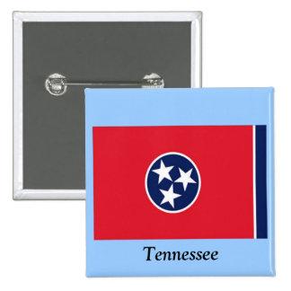 Bandera de Tennessee Pin Cuadrada 5 Cm