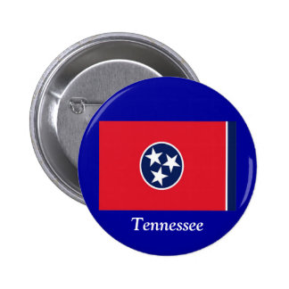 Bandera de Tennessee Pin Redondo 5 Cm