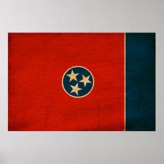 Bandera de Tennessee Póster