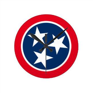 Bandera de Tennessee Reloj Redondo Mediano