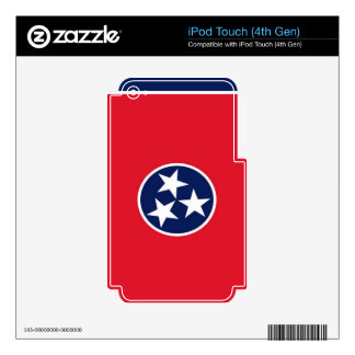 Bandera de Tennessee Skins Para iPod Touch 4G