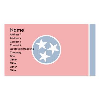 Bandera de Tennessee Plantilla De Tarjeta De Negocio
