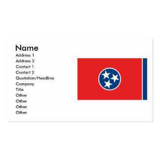 Bandera de Tennessee Plantillas De Tarjeta De Negocio