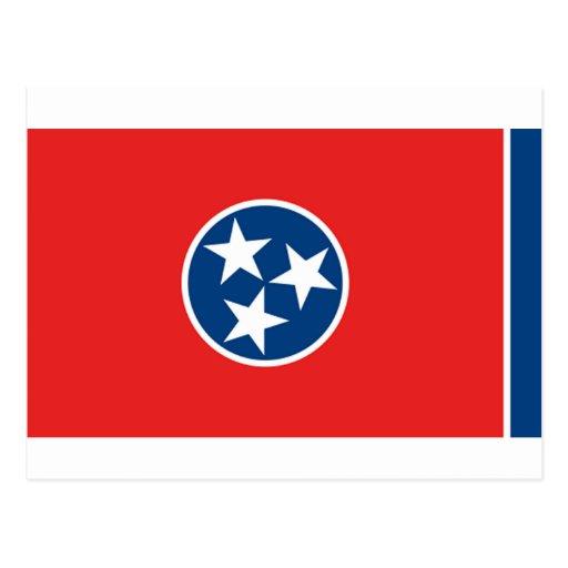 Bandera de Tennessee Tarjeta Postal