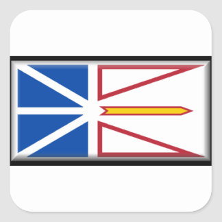 Bandera de Terranova (Canadá) Pegatina Cuadrada
