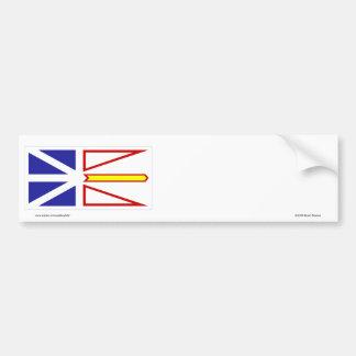 Bandera de Terranova, Canadá Pegatina Para Auto