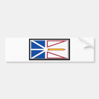 Bandera de Terranova (Canadá) Pegatina Para Auto
