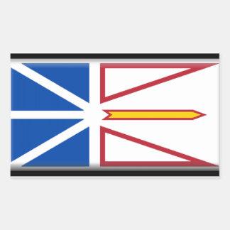 Bandera de Terranova (Canadá) Pegatina Rectangular