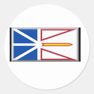 Bandera de Terranova (Canadá) Pegatina Redonda