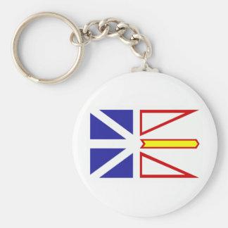 Bandera de Terranova Llavero Redondo Tipo Pin