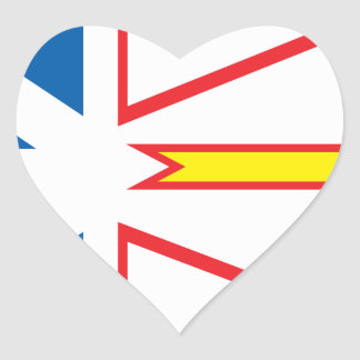 Bandera de Terranova Pegatina En Forma De Corazón