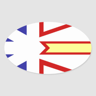 Bandera de Terranova Pegatina Ovalada