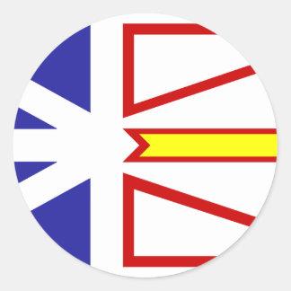Bandera de Terranova Pegatina Redonda
