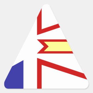 Bandera de Terranova Pegatina Triangular