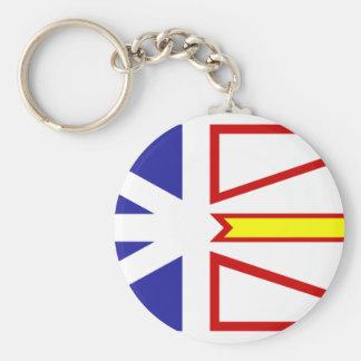 Bandera de Terranova y de Labrador Llavero Redondo Tipo Pin
