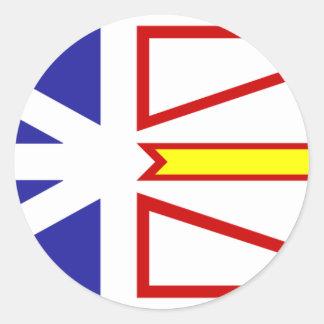 Bandera de Terranova y de Labrador Etiqueta