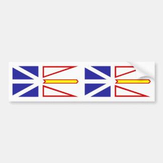 Bandera de Terranova y de Labrador Pegatina Para Auto