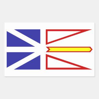 Bandera de Terranova y de Labrador Pegatina Rectangular