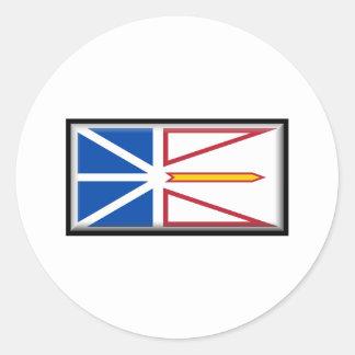 Bandera de Terranova y de Labrador Pegatina Redonda