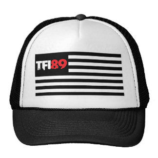 Bandera de TFI89 B W Gorros Bordados