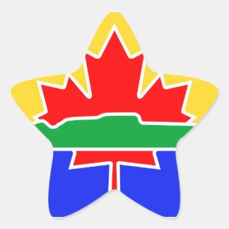 Bandera de Thunder Bay Pegatina En Forma De Estrella