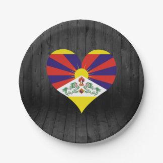 Bandera de Tíbet coloreada Plato De Papel De 7 Pulgadas