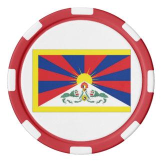 Bandera de Tíbet Fichas De Póquer