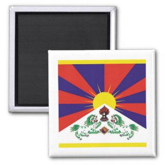 Bandera de Tíbet Imán Cuadrado