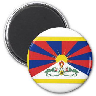 Bandera de Tíbet Imán Redondo 5 Cm
