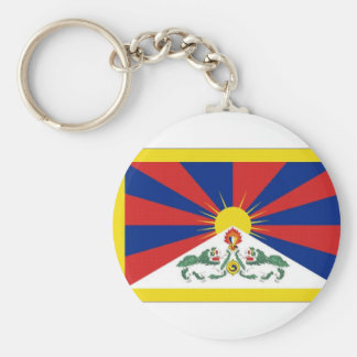 Bandera de Tíbet Llaveros Personalizados