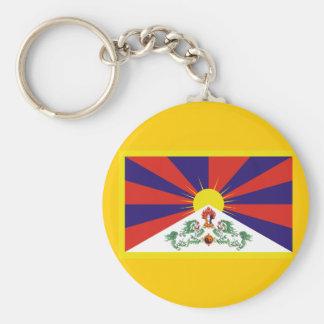 Bandera de Tíbet Llavero Redondo Tipo Pin