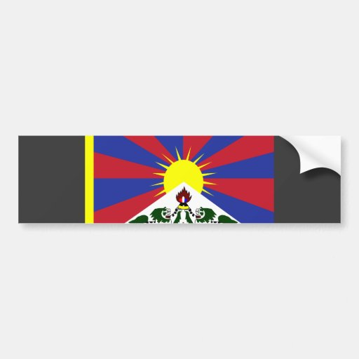 Bandera de Tíbet Pegatina De Parachoque