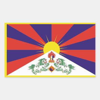Bandera de Tíbet Pegatina Rectangular