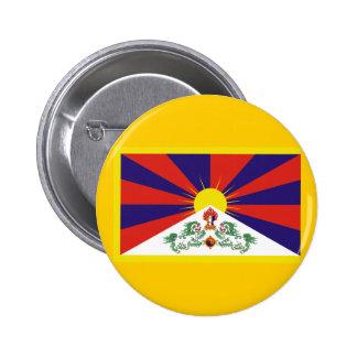 Bandera de Tíbet Pin Redondo De 2 Pulgadas