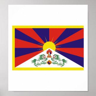 Bandera de Tíbet Póster