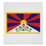 Bandera de Tíbet Posters