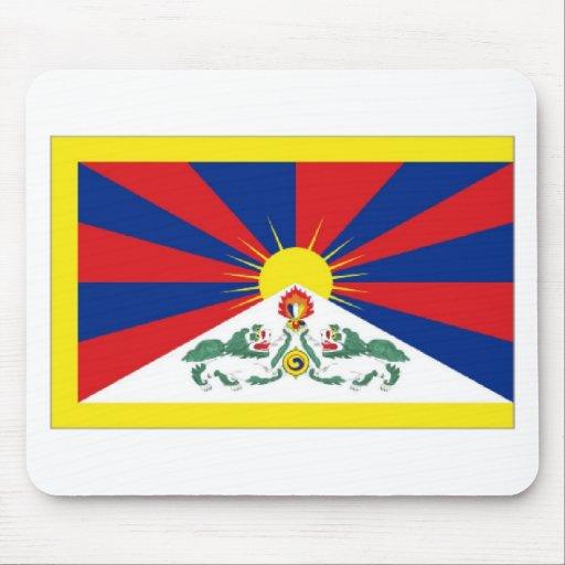 Bandera de Tíbet Tapetes De Ratón