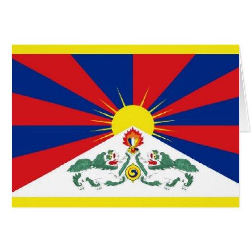 Bandera de Tíbet Tarjeta
