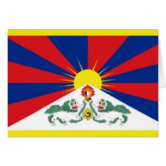 Bandera de Tíbet Tarjeta De Felicitación