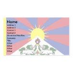 Bandera de Tíbet Tarjetas De Visita