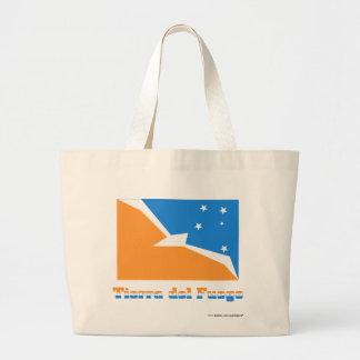 Bandera de Tierra del Fuego con nombre Bolsa Lienzo