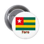 Bandera de Togo con nombre en ruso Pins